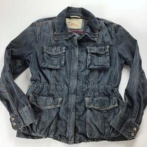 Gap drawstring cinch waist utility jacket medium